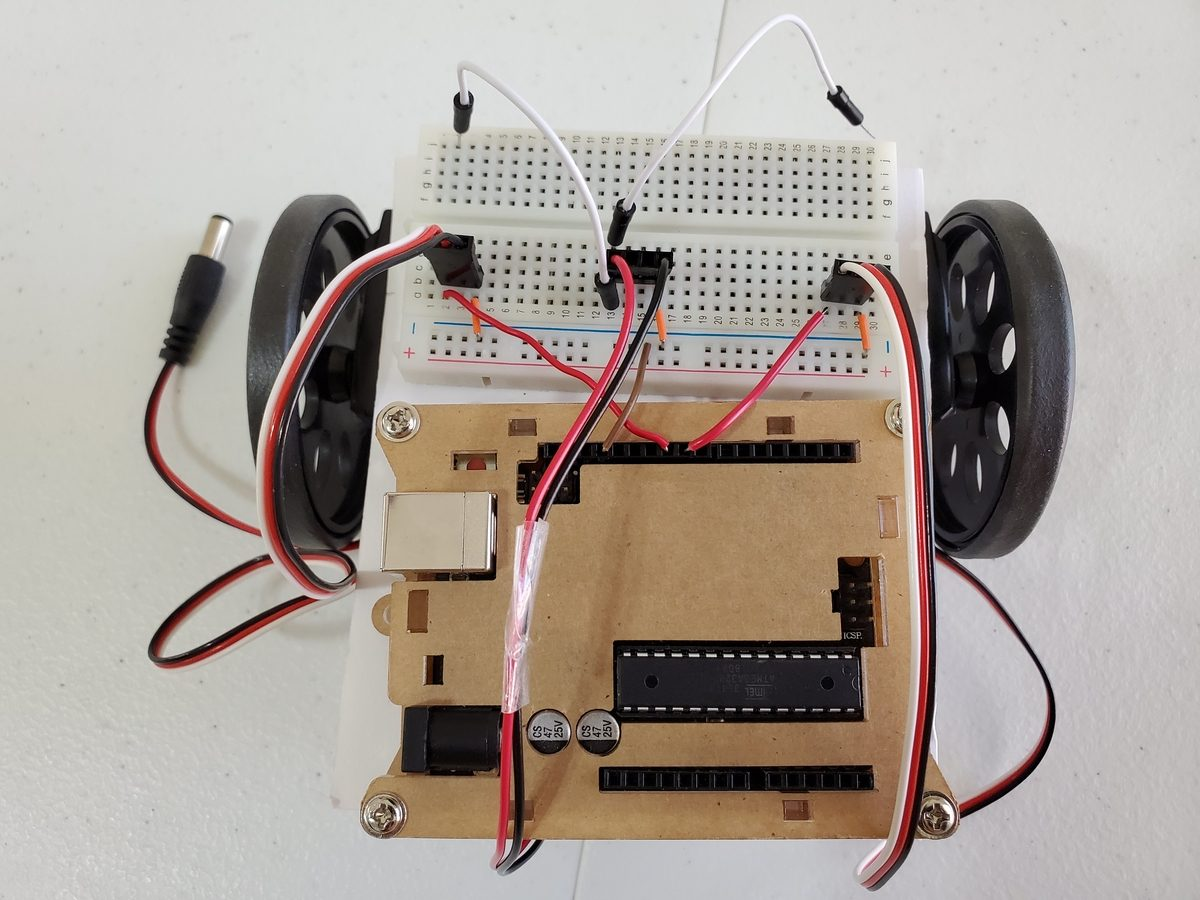 How to Wire the Batteries and Motors of a Basic Wheeled Robot