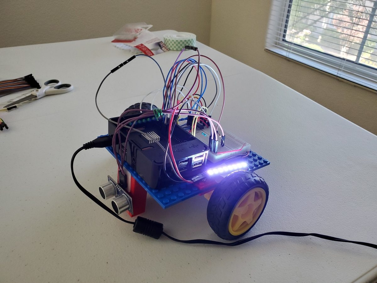 How to Add Light to a Raspberry Pi Wheeled Robot