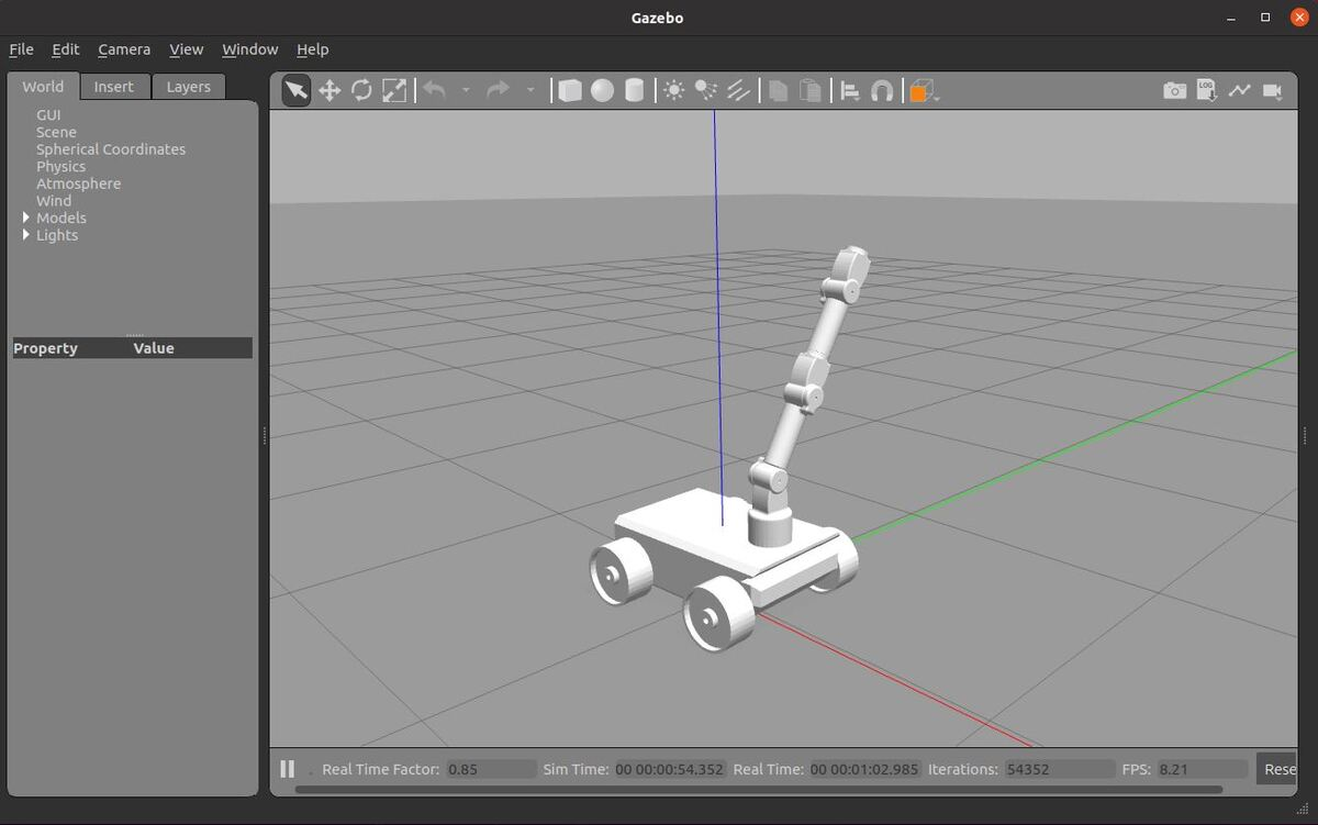 How to Move a Simulated Robot Arm to a Goal Using ROS