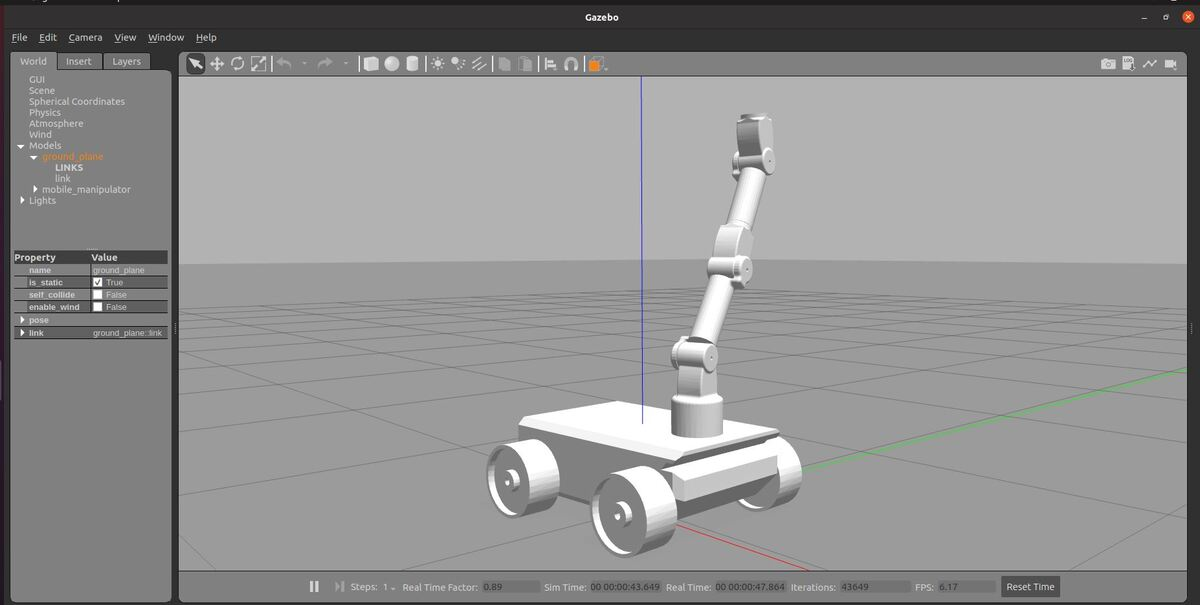 How to Build a Simulated Mobile Manipulator Using ROS